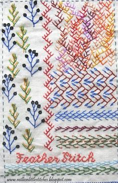Million Little Stitches: TAST - Feather Stitch