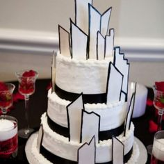 Wedding cake. City theme!!