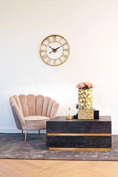 Ceas de perete rotund Richmond Bryson D 60cm Steel, Table, Retro, Furniture, Home Decor, Vintage, Decoration Home, Room Decor, Tables