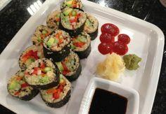 Food Babe's Quinoa Vegetable Maki Sushi Roll Sushi Roll Recipes, Fish Recipes, Whole Food Recipes, Cooking Recipes, Healthy Recipes, Veggie Recipes, Healthy Foods, Yummy Recipes, Vegetarian Recipes