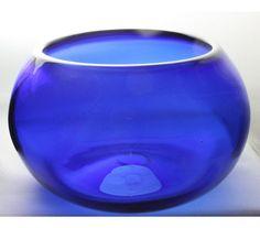 Transparent Cobalt Blue Bowl Hand Blown Glass by ElliottGlassArt Cobalt Glass, Cobalt Blue, Love Blue, Blue And White, Color Blue, Vases, Blue Bowl, Blue Home Decor, Glass Collection