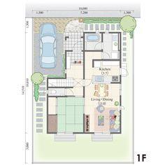 36.75坪,北玄関,の三井ホーム株式会社が提供する間取りプラン。リビングの気配を感じられる和室。ほどよい距離感で家族をつないでくれます。。All Aboutが運営する間取り検索サイトの詳細画面です。