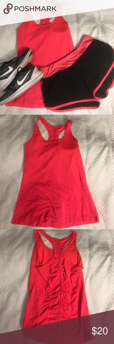 Hot pink workout outfit Includes top and shorts Other