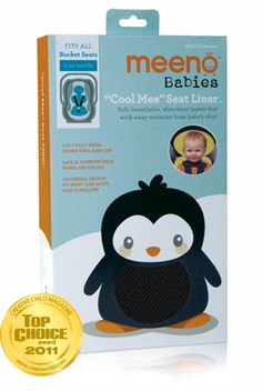Meeno Babies - Cool Mee Seat Liner. - this would be perfect for my little sweaty Betty niece or a cute baby shower gift.