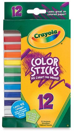 Crayola Color Sticks- no wood casing so they don't have to be sharpened, they'll last forever, they're super sturdy, and they're pentagonal which makes them exceptional for doing rubbings!