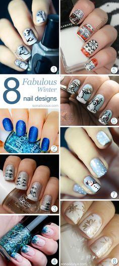 8 Fantastic Winter Nail Designs To Try. #nailart #winternails #winternaildesigns