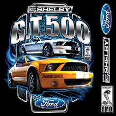 Carroll Shelby Ford GT500 Licensed Mustang by firelandsteeshirts, $14.99