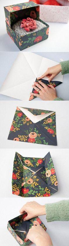 Коробочка из бумаги за 5 минут