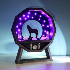 Howling Wolf Light Up crystal Shelf!