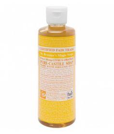 Citrus Orange Liquid Soap es un jabón multifuncional 100% natural de Dr.Bronner's elaborado con aceites cítricos orgánicos. Agradable olor fresco y cítrico. Contiene naranja, limón y lima. Estimula la piel y tonifica el cuerpo. Los jabones líquidos de Dr.Bronner's son multifuncionales. Descubre todos sus usos en consejos. 236ml.