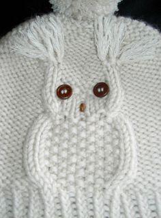 Diy Crafts - Child Knitting Patterns knit cap in solely 45 rounds --- owl motif Baby Knitting Patterns Supply : Mütze stricken in nur 45 Runden- Crochet Owl Hat, Knitted Owl, Baby Blanket Crochet, Knitted Hats, Easy Blanket Knitting Patterns, Owl Knitting Pattern, Diy Crafts Knitting, Diy Crafts Crochet, Loom Knit