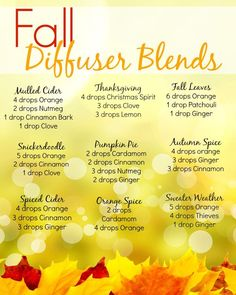 http://www.phomz.com/category/Oil-Diffuser/ Fall Diffuser Blends ~ Young Living Essential Oils