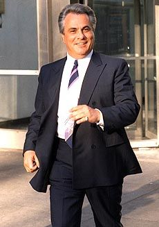 """John Gotti (1940 - 2002) Organized Crime Figure. He took over the Gambino Crime Family after mobster Paul Castellano was murdered on his orders in 1985. He became known as the """"Teflon Don"""" due to his acquittals on a number of crime charges brought against him. He was finally convicted in 1992 and spent 10 years in prison, where he died of natural causes."""