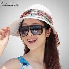 Fashion Face Protection Sun Hat Summer Foldable Hats For Women Anti-UV Wide Brim Adjustable Women Hat Summer 014192