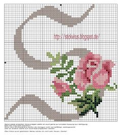 Rose ABC You can find the entire alphabet patterns and color legend at this site Cross Stitch Alphabet Patterns, Embroidery Alphabet, Cross Stitch Letters, Cross Stitch Rose, Cross Stitch Flowers, Cross Stitch Designs, Stitch Patterns, Cross Stitching, Cross Stitch Embroidery