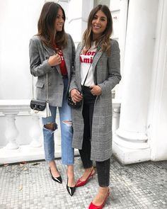 Checks X slogan tees X kitten heels ❤️ #DuneLondon #Style Kitten Heels Outfit, Casual Heels Outfit, Heels Outfits, Casual Jeans, Trendy Outfits, Winter Outfits, Fashion Outfits, Womens Fashion, Work Fashion
