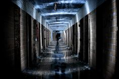 Photographer Mike Palmer visited the long-abandoned prison in a remote corner of Ontario last November to capture its eerie beauty before it is completed swallowed up by the surrounding vegetation. Abandoned Prisons, Abandoned Buildings, Abandoned Places, Haunted Places, Light Photography, Creative Photography, Photography Ideas, Haunting Photos, Creepy Photos