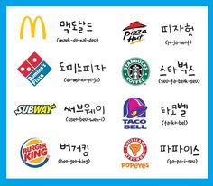 Nombres de Cadenas de Comida Populares en Corea