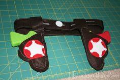 gun holster, guns, craft, felt, dressup, water gun, boy, kid, birthday ideas
