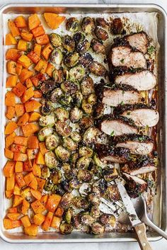 Balsamic Pork Tenderloin in Oven with Fall Veggies Balsamic Pork Tenderloin in Oven — Packed with flavor with sticky pork tenderloin coated in a finger-licking rosemary balsamic sauce. A spot on family dinner on the table in 35 minutes. - by 30 recipes Balsamic Pork Tenderloins, Pork Tenderloin Oven, Healthy Pork Tenderloin Recipes, Roasted Pork Recipes, Pork Loin Recipes Oven, Rosemary Pork Tenderloin, Crockpot Recipes, Pork Roast In Oven, Pork Fillet
