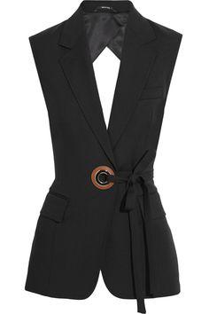 Maison Margiela|Open-back wool and mohair-blend vest|NET-A-PORTER.COM