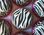 Hot Pink Leopard Cupcake Baking Cups Wrappers 50 pieces, great for glamour diva rock star princess party or bachelorette and wedding chic. $6.00, via Etsy.