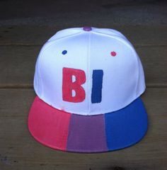 Bisexual Bi Pride Flag Snapback Hat  LGBTQA by WhiteStagWorkshop