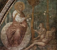 Torriti Jacopo The Creation of Eve Fresco Upper Church, San Francesco, Assisi Mosaic Maker, Saint Jean, Italian Painters, Old Testament, Adam And Eve, Gothic Art, 14th Century, All Art, Fresco