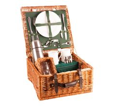 or 6 person Luxury Picnic Hamper; The Chiltern from Amberley Hampers Luxury Hampers, Family Picnic, Picnics, Place Settings, Green, Handmade, Hand Made, Craft, Table Settings