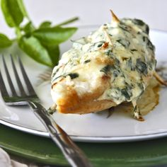 Stuffed chicken breasts with parmesan and basil