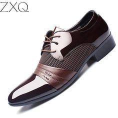 newest 2e93d 38da0 Breathable Low Top Men Formal Office Shoes