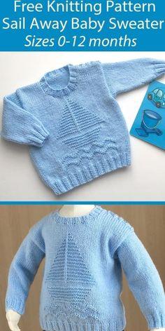 Baby Boy Sweater, Knit Baby Sweaters, Boys Sweaters, Knitted Baby Cardigan, Knitted Baby Clothes, Baby Knits, Free Baby Sweater Knitting Patterns, Free Knitting, Knitting Designs