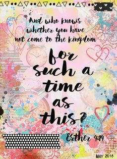 such-a-time-Esther Free Printable. Bible Journaling Digital page created on the…