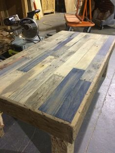 Oxidized Pallet Coffee Table