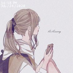 Pretty Anime Girl, Anime Art Girl, Anime Angel, Manga Characters, Profile Photo, Love Art, Cartoon Art, Illustration Art, Kawaii