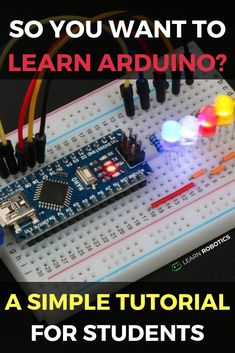 Learn Arduino with our Four Simple Steps. Get started FAST! Create your first Arduino Program in 30 min or less! Give our tutorial a try! Diy Arduino, Cool Arduino Projects, Arduino Beginner, Pi Projects, Arduino Laser, Arduino Wifi, Robotics Projects, Science Projects, Ideas