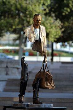 sculptures en bronzes dechiquetees de bruno catalano 10   Les sculptures en bronze déchiquetées de Bruno Catalano   Sculpture photo marseill...