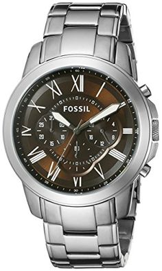 8f0c8402e80e Fossil Mens FS5090 Grant Chronograph Stainless Steel Watch   Want  additional info  Click on the image. (This is an affiliate link)   FossilWatch