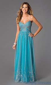Buy Spaghetti Strap Cut Out Prom Dress at SimplyDresses