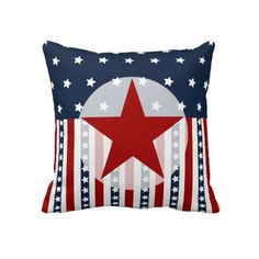 Patriotic Stars and Stripes American Flag Design Pillow  #SOLD on #Zazzle