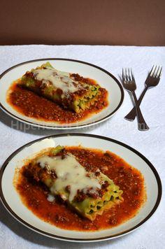 Hiperica di Lady Boheme: Ricetta lasagna riccia arrotolata con ricotta e spinaci al ragù di carne