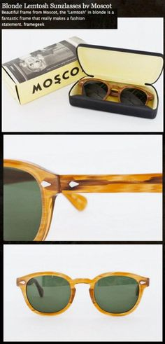 Moscot-- I'd love to put my every day prescription in these