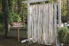 Rustic Vintage Backyard Wedding: Emily Hearn & Michael Harrison.  Decor: Little River Designs. https://www.facebook.com/littleriverdesigns or littleriverdesigns.com