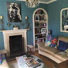 ideas living room white and blue farrow ball Living Room Decor Purple, Living Room White, Living Room Paint, Living Room Carpet, Small Living, Oval Room Blue, Blue Rooms, White Rooms, Farrow Ball