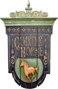 Quarter Horse Tavern Pub sign.