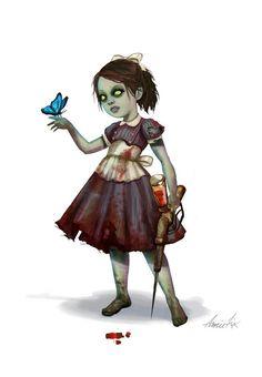 """+ Ilustração :     """"Little Sister"""" pela ilustradora Annie Fix"""