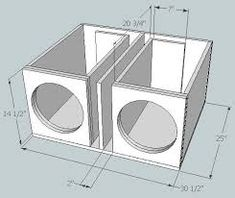 subwoofer box design for 12 inch - Google Search