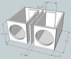 Resultado de imagen para subwoofer box design for 12 inch Diy Subwoofer, 15 Inch Subwoofer Box, Custom Subwoofer Box, Subwoofer Box Design, Custom Speaker Boxes, Speaker Box Design, Sub Box Design, Ported Box, Car Audio Installation