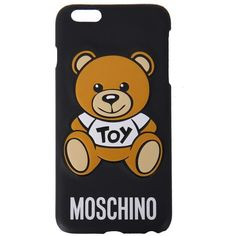 Moschino i-Phone 6 case (€39) ❤ liked on Polyvore featuring accessories, tech accessories, phone cases, phones, nero and moschino