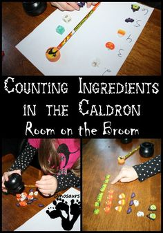 Counting Ingredients in the Caldron – Room on the Broom: 2 Easy to do counting activities - 3Dinosaurs.com